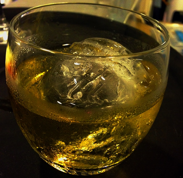 Cachaça on the rocks